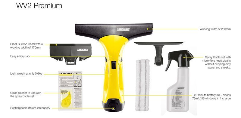 Karcher WV2 Premium 2nd Generation Window Vacuum Cleaner Review