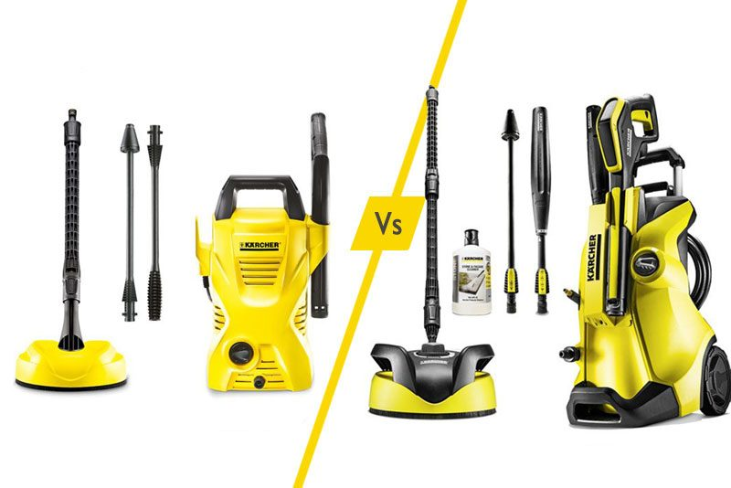 differences between the karcher k2 vs k4 pressure washer reviewer