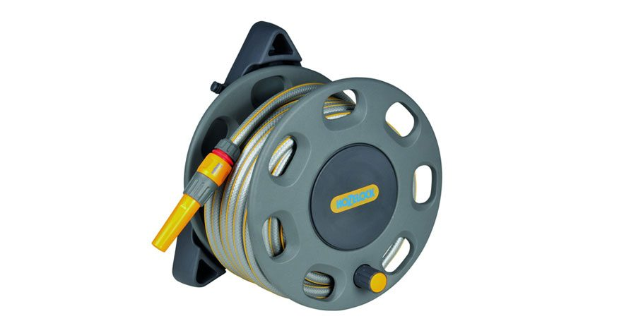 Hozelock Wall Mounted Compact Hose Reel With 15 M Hose