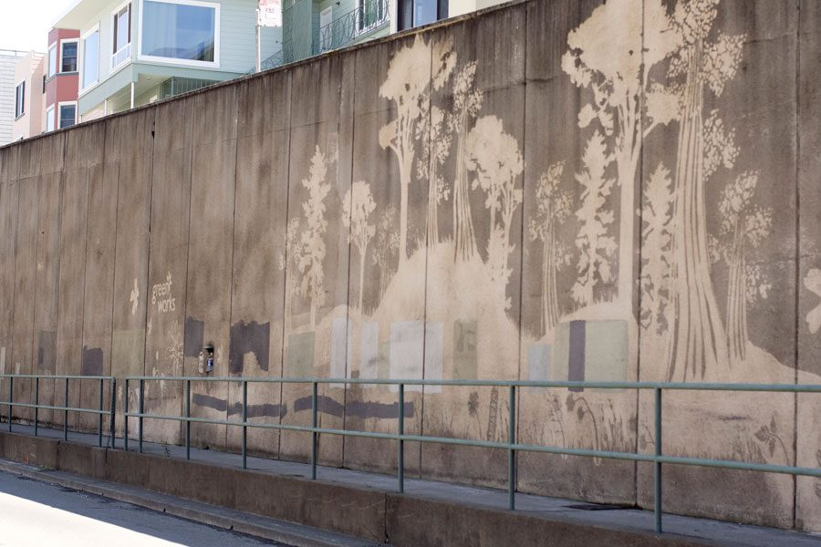 Cement Wall Graffiti : Amazing reverse art photos using just a pressure washer
