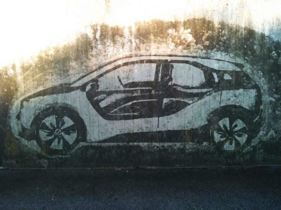 BMW Reverse Graffiti wall art