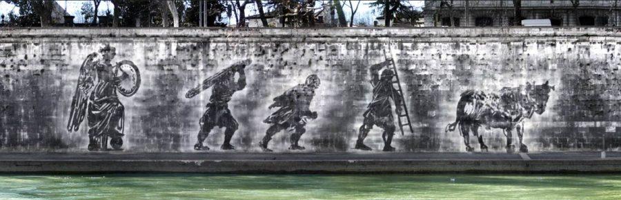 Reverse Graffiti wall art