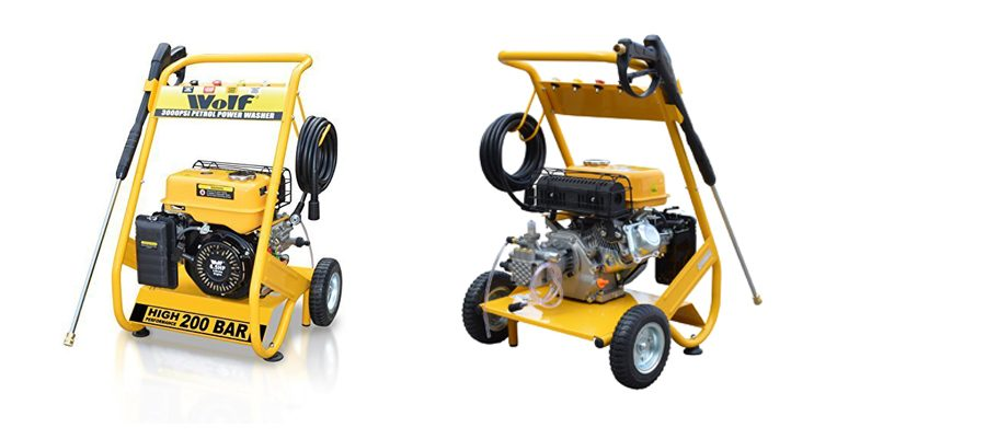 Wolf 200 BAR Heavy Duty Petrol Driven Pressure Power Washer