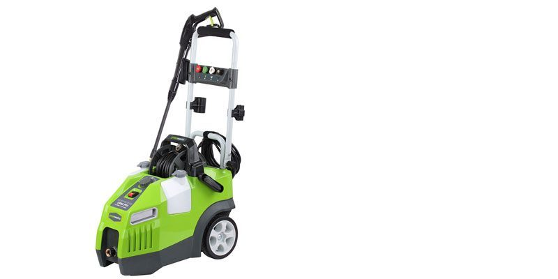 GreenWorks GPW1950 3 amp 1950 PSI 1.2 GPM Electric Pressure Washer with Hose Reel